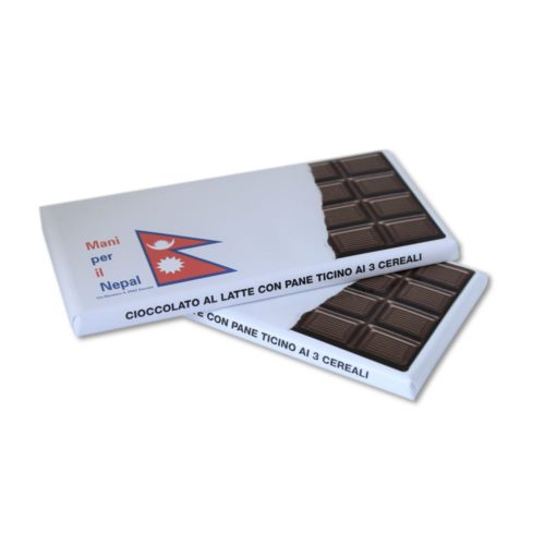 Cioccolato al Latte Mani per il Nepal