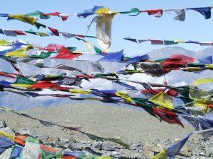 Bandiere di preghiera tibetane Mani per il Nepal