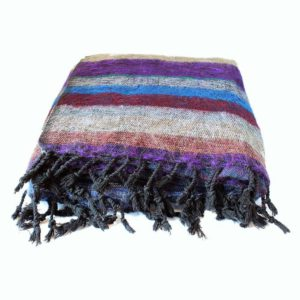 Coperta nepalese in lana tibetana Mani per il Nepal